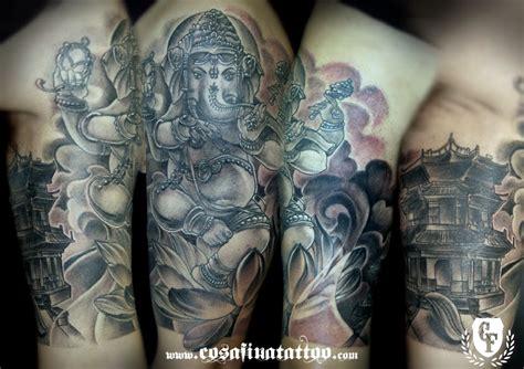 tattoo oriental hindu cosafina tattoo carlos art studio tatuaje ganesha flor de