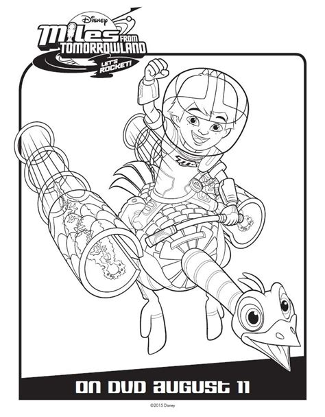 coloring book page from photo miles from tomorrowland activity coloring pages