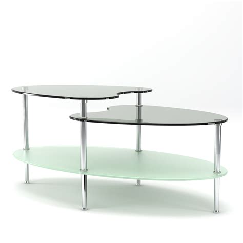 38 coffee table becca 38 inch oval two tier glass coffee table