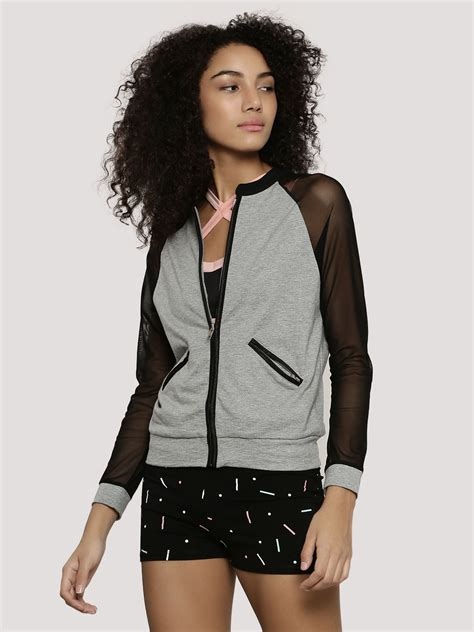 Sheer Jacket buy k active sheer sleeve jacket for s black