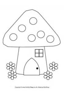 Fairy House Colouring Page sketch template