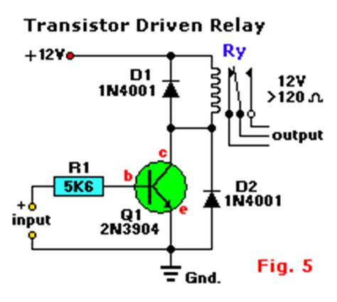 simple transistor relay driver relays and relay drivers tutorial circuit wiring diagrams