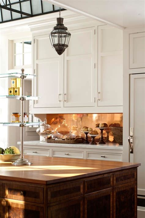 27 Trendy And Chic Copper Kitchen Backsplashes Digsdigs Copper Kitchen Backsplash