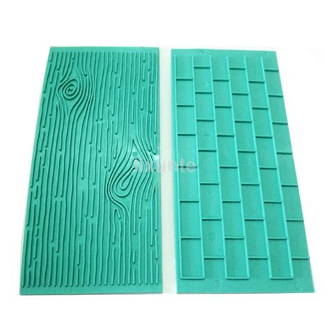 Wood Grain Mat For Fondant by Brick Wall Wood Grain Impression Mat Cake Emboss Fondant