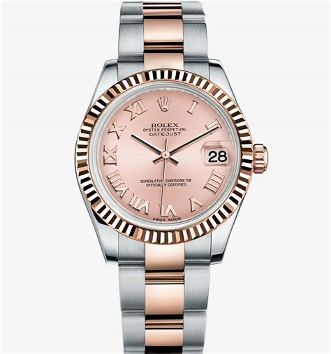 Rolex Datejust Combi Gold For replica rolex datejust 31 everose rolesor combination of 904l steel and 18 ct
