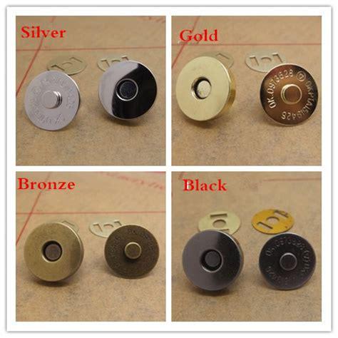 Magnetic Buttons Kancing Magnet Silver 100set lot 18mm 5mm bronze silver gold black metal magnet button for bags magnetic handbag bag