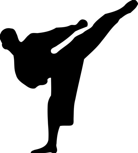 wallpaper animasi taekwondo file karate silhouette svg wikimedia commons