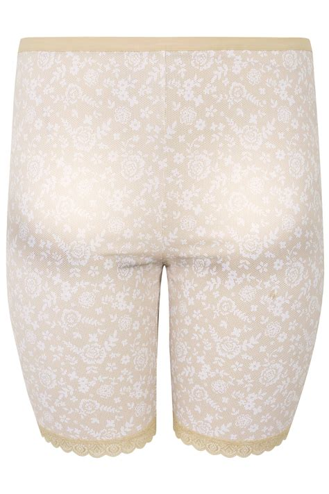 New Hem Jk3306 Size lace print thigh smoothers with lace hem plus size 16 to 36