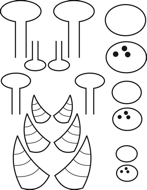 8 best images of printable monster eye templates