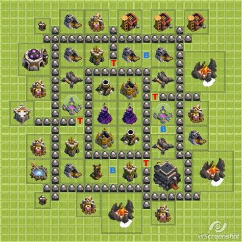 layout coc level 5 defense clash of clans town hall level 5 defense layout i would
