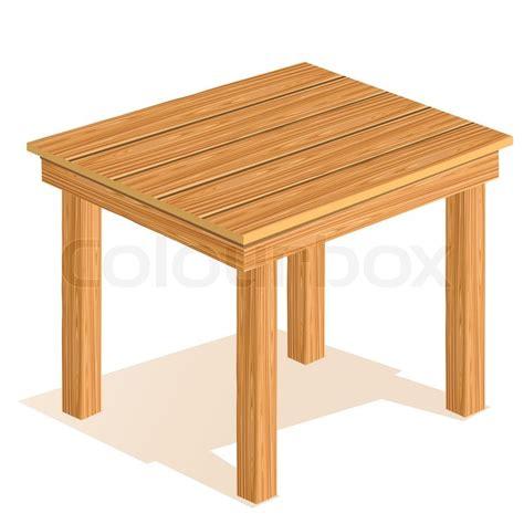 vector wooden table stock vector colourbox