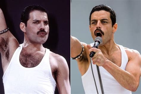 actor freddie mercury film bohemian rhapsody see the cast side by side with real