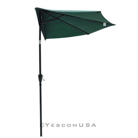 Patio Half Umbrella 9ft Half Umbrella Outdoor Patio Bistro Wall Balcony Door Window Sun Shade Opt Ebay