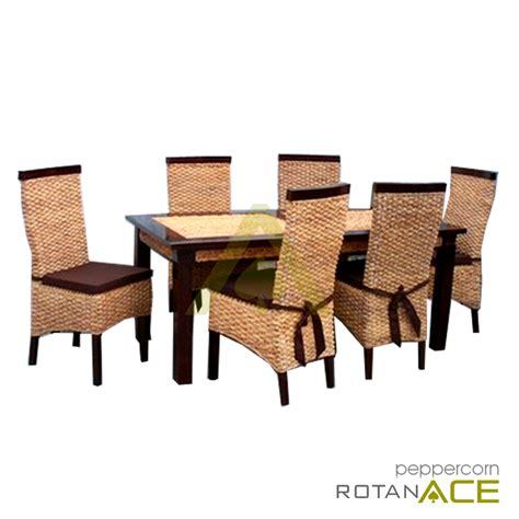 Meja Makan Ace Hardware jual peppercorn meja makan rotan set 6 seats harga lebih