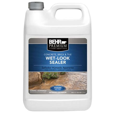 behr premium 1 gal look sealer 98501 the home depot