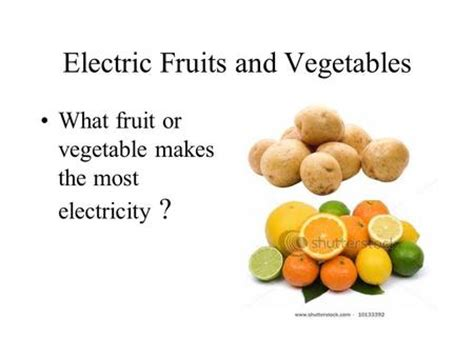 fruit electricity big question which fruit and vegetable conducts the most