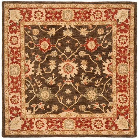 kitchen rugs 6ft safavieh anatolia olive rust 6 ft x 6 ft square area rug