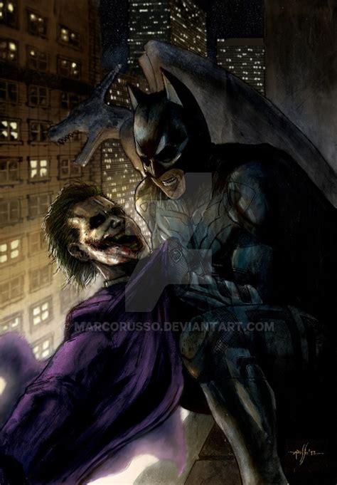 imagenes batman vs joker batman vs joker digital color by marcorusso on deviantart