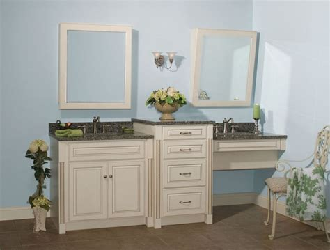 bathroom vanity with makeup counter with regard to