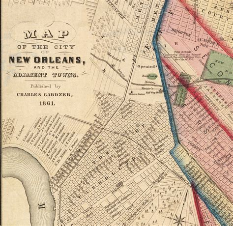 map us new orleans map of new orleans 1861 maps and vintage prints
