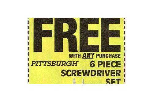 harbor freight free 6 piece screwdriver coupon