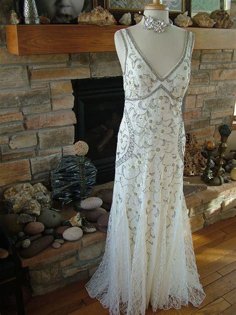 vintage  style beaded embroidered lacewedding