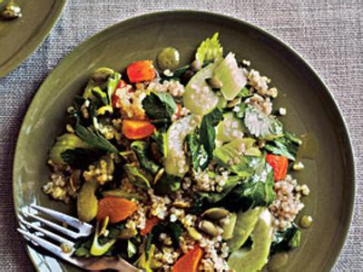 protein quinoa salad kale and quinoa with romesco cooking with