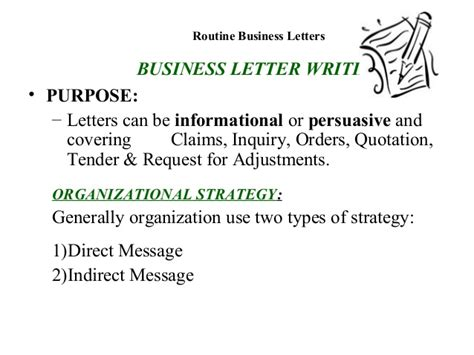 Business Letter Writing Purpose Introduction To Messages And The Writing Process Business Communica