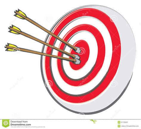 Clip On L Target by Bullseye And Arrows Stock Vector Image Of Olympics
