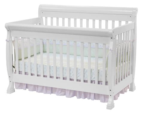 Babies In Crib Davinci Kalani 4 In 1 Convertible Baby Crib In White W Toddler Rails M5501w