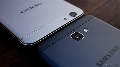 Samsung J7 Prime Vs Oppo F1s bá Ạnh so s 225 nh m 224 u ä en cá a samsung galaxy j7 prime v 224 oppo