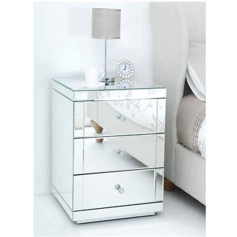 Bedroom Furniture With Mirror Atlas Mirror 3 Drawer Bedside Mirror Simply Furniture