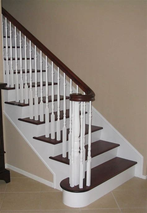 wooden staircase stair redo home schtuff decor pinterest