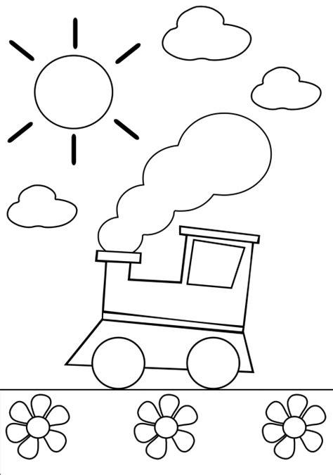 coloring pages trains preschoolers preschool coloring page train kidspressmagazine com
