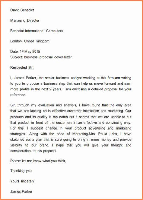 9 how to make a business proposal letter project proposal