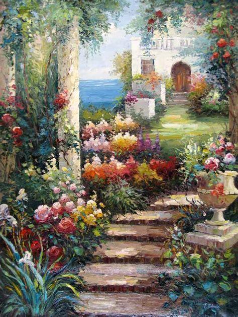 painting garden garden stairs