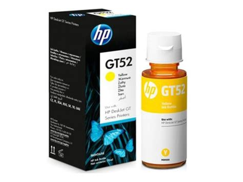 Tinta Printer Hp Gt52 Yellow Ink Bottle Original hp ink bottle gt51 black office warehouse inc