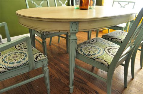 Painted Dining Room Table Ideas 15 Awesome Photos Painted Dining Room Table Dining Decorate