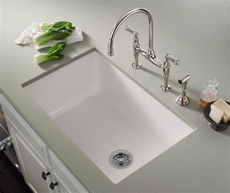 white kitchen sinks rohl allia fireclay single bowl undermount kitchen sink