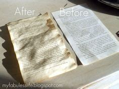 How To Bake Paper To Make It Look - aging paper on bookbinding tutorial book of