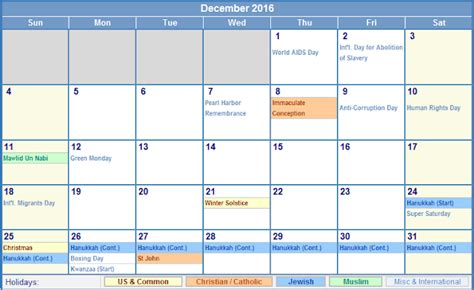 printable december calendar with holidays december 2016 printable blank calendar templates