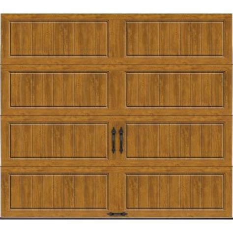 clopay gallery collection 8 ft clopay gallery collection 8 ft x 7 ft 18 4 r value intellicore insulated solid ultra grain