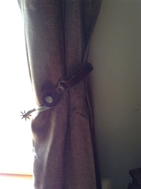 western curtain tie backs love this just used some old spurs as tie backs they look
