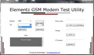 port scan test elementz test utility for gsm modem random codes
