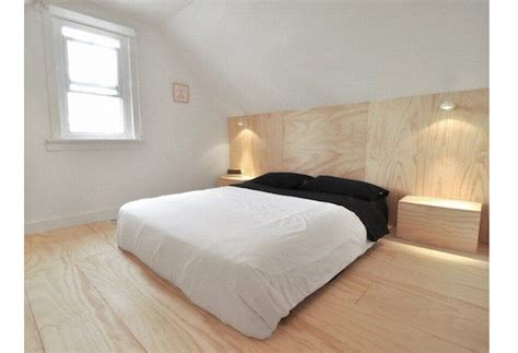 Plywood Headboard by 10 Favorites Headboard Storage Remodelista
