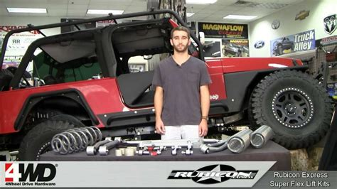 Jeep 3 5 Inch Lift Kit Rubicon Express 3 5 4 5 Inch Superflex Lift Kit For