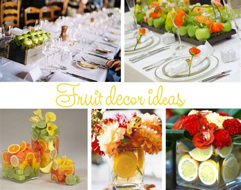 Fruit For Decoration by The Wedding Inspirations Fruits Wedding Table