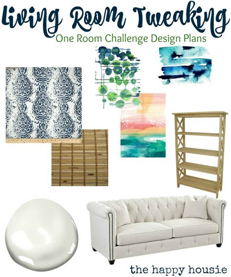 room challenge tweaking the living room the one room challenge begins the happy housie