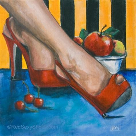 high heel shoe paintings shoe dailies tempting reds painting of high