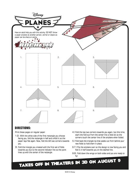 printable paper airplane crafts disney planes printable rochelle paper airplane craft